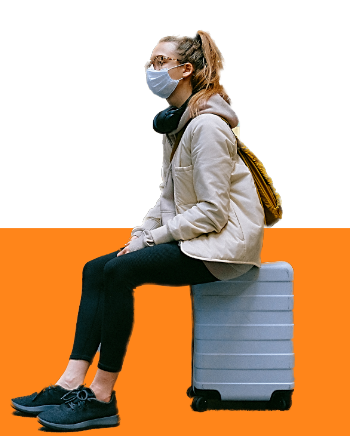 Travelling student waiting for COVID test at HeathrowPhoto by Anna Shvets from Pexels